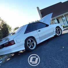 """""""We'd rather look out our window and see Michael's white hatchback than snow. Thankfully it wasn't enough to stick around but Michael's Foxbody can stay as long as it likes."""