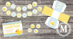 free birthday decoration printables ducks | Rubber Duck Birthday Party - Full Printable Collection