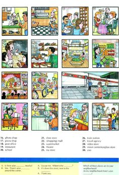 33 - PLACES AROUND TOWN 2B - Pictures dictionary - English Study