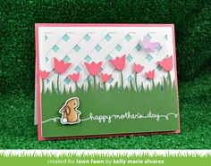 the Lawn Fawn blog: Lawn Fawn Intro: Stripey Backdrop and Flower Border
