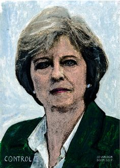 Portrait from the serie, world leaders Theresa May, World Leaders, Oil On Canvas, Portrait, Fictional Characters, Beautiful, Art, Art Background, Painted Canvas
