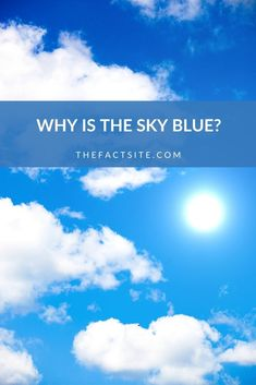 Why is the sky blue? It's not a short answer, but it is a simple one that's easy to understand. So let's find out, once and for all, why the sky is blue! Physics Facts, Learn Physics, Random Facts, Weird Facts, Fun Facts, Layers Of Atmosphere, Different Types Of Colours, Clean Ocean, Short Waves