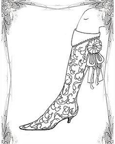 Shoe design illustration