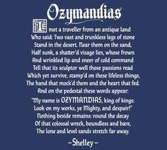 Ozymandias Poem Shelley Breaking Bad T-Shirt