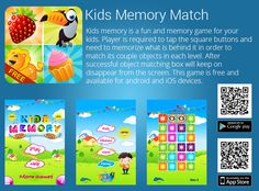 Kids Learning Android Apps: Kids Memory Game