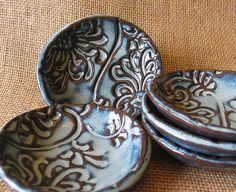 READY TO SHIP  Set of 2 Prep Bowls  Gourment by DragonflyArts, $14.00