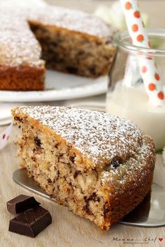 Goal - Italian Pastries Pastas and Cheeses Pear And Almond Cake, Almond Cakes, Tortillas Veganas, Delicious Desserts, Dessert Recipes, Chocolate Hazelnut Cake, Italian Pastries, Italian Cake, Coconut Recipes