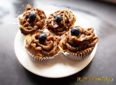 Raw Vegan Blueberry Cupcake   Rawmunchies.org  #RECIPE HERE: http://www.rawmunchies.org/recipes #Raw #vegan #rawvegan #glutenfree #rawvegancupcakes #rawvegandessert #cupcakes #blueberrycupcake