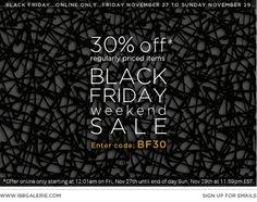 ONLINE : Black Friday Sale All Weekend at 188 Galerie