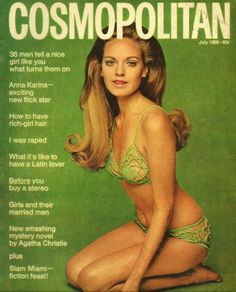 1969 issue of Cosmo was made by Barbara Lewis - #crochet swimsuit