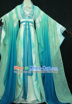 Gorgeous Chinese Fairy Princess Empress Queen Cosplay Costumes Ancient Chinese Clothing Complete Set for Women: Green Costumes, Cool Costumes, Cosplay Costumes, Halloween Costumes, Woman Costumes, Pirate Costumes, Couple Halloween, Adult Costumes, Hanfu