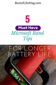 5 Microsoft Band Tips For Better Battery Life