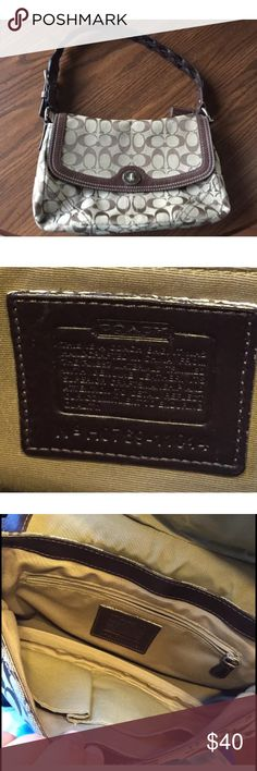 Coach Handbag Like new, rarely used. Zipper pocket and two open pockets inside. Coach Bags Shoulder Bags