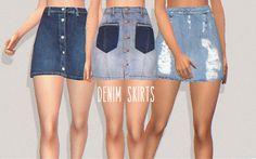 denim skirts - PURESIMS