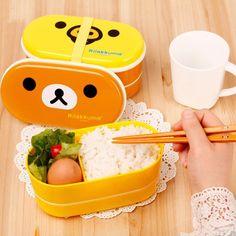 Aliexpress.com: Comprar 1 microondas Brown Rilakkuma Bento Box múltiples capas de los niños almuerzo caja caliente del envío gratis de las cajas de envío al Reino Unido fiable proveedores en Shanghai Fashion & Light No.3
