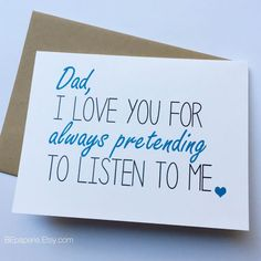 Dad Card - Dad from Daughter - Dad Birthday Card - Father's Day Card - Funny Card for Dad - carte