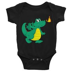 Green Baby Dragon Infant short sleeve one-piece