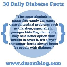 "Diabetes Awareness Month Thought 9:  ""The sugar alcohols in sugar-free candy can cause gastrointestinal problems such as diarrhea, especially in younger kids. Regular candy can be a better option with insulin to cover it. It's a myth that sugar-free is always better for people with diabetes.""  Please feel free to share this on your own timeline to help educate and advocate for those with type 1 diabetes.  (Please remember that I never give medical advice. Ask your endocrinologist or pediatrician Diabetes Facts, Diabetes Awareness, Diabetes Care, Types Of Diabetes, Diabetes Diet, Diabetes Quotes, Diabetes Mellitus, Pre Diabetic, Diabetic Tips"