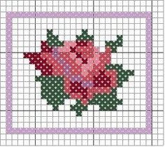 miniature needlework chart by Kim
