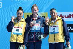 Women's 5km race: Gold Medal: Haley Anderson (USA) Silver Medal: Poliana Okimoto (BRA) Bronze Medal: Ana Marcela Cunha (BRA) Open Water, Bra, Sports, Bronze, Silver, Gold, Fashion, Cunha, Hs Sports