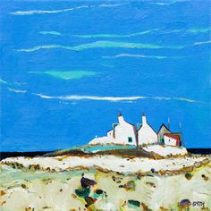 Trailing Clouds, Glenelg - David Smith RSW http://davidsmithart.org  #landscape #scottishart #davidsmithrsw