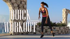 Quick Total Body Workout - No Equipment Workout is a full body workout with no equipment you can do at home or anywhere in 5 minutes. Total Body, Full Body, Quick Workouts, No Equipment Workout, Total Body Workouts