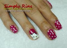 hello kitty nail art - Google Search