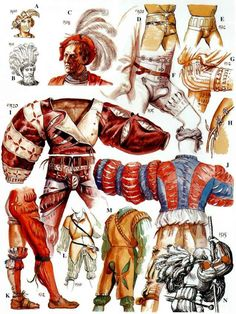 Painting guide for the Great Italian Wars and Spanish Conquistadores in the New World. It covers: Spanish Infantry, Spanish Cavalry, Italian, German/Landsknecht, Swiss. Costume Renaissance, Renaissance Clothing, Medieval Fashion, Italian Renaissance, Renaissance Art, Historical Costume, Historical Clothing, German Costume, Armadura Medieval