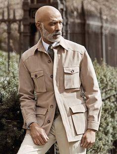 Military Inspired Fashion, Military Fashion, Mens Fashion, Rugged Style, Mens Style Looks, Vintage Safari, Dandy Style, Safari Jacket, Mature Fashion