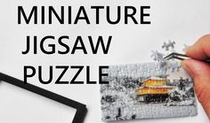 DIY /How to make a miniature jigsaw puzzle.
