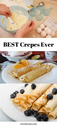 Delicious Crepes Recipe ~ Made from Scratch! Brunch Recipes, Gourmet Recipes, Breakfast Recipes, Cooking Recipes, Pancake Recipes, Breakfast Sandwiches, Waffle Recipes, Entree Recipes, Cooking Ideas