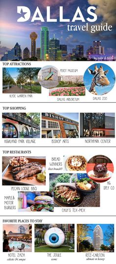 Dallas City Guide: The Best of Big D If you're stopping by Dallas, TX for a quick visit, I've rounded up the best places to eat, shop, and play in the city! Print this easy guide for your trip. Oh The Places You'll Go, Best Places To Eat, Places To Travel, Travel Destinations, Places To Visit, Dallas Travel, Texas Travel, Travel Usa, Texas Tourism