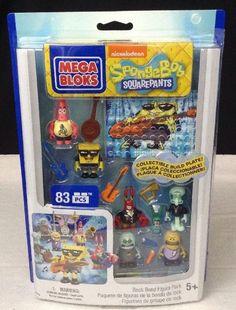 NEW Mega Bloks 2014 SpongeBob Squarepants 84 Pieces Rock Band Figure Pack NICK #MegaBloks