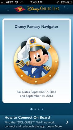 Disney Cruise Line Releases a Personal Navigator iPhone & Android App for a Sea Trial on the Disney Fantasy I hope they expand this before our next cruise! SOOO much easier than trying to keep up with the Navigator