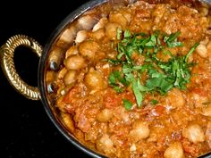 channa-masala-dish- garbanzo  beans rich in herbs and spices