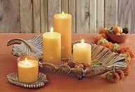 Sculpted Leaf Pillar Holder and Pillar Garden Tray...love a great sidekick! #PartyLite  www.partylite.biz/joannehamblett