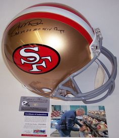 Joe Montana Autographed Hand Signed San Francisco 49ers Throwback Authentic Helmet - PSA/DNA - Super Bowl Champ