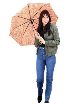 DM Merchandising's Sage & Emily: Compact Umbrella - shine bright on a rainy day Compact Umbrella, Shinee, Sage, Winter Jackets, Bright, How To Make, Travel, Fashion, Winter Coats