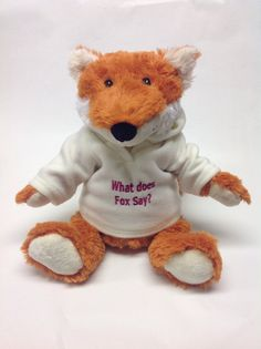 Personalised fox from Say it with Bears, put any message and ship it any where in the world. Personalised Teddy Bears, Fox, Ship, Animals, Personalized Teddy Bears, Animales, Animaux, Ships, Animal