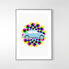 Volkswagen Beetle 2003 Poster BIG POSTER 19x12 by loscadotte