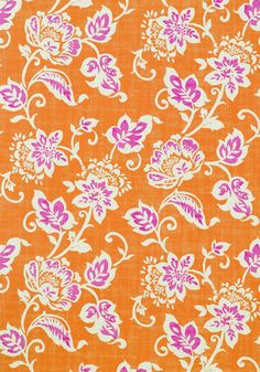 Candise wallpaper in Orange from the Avalon Collection by #Thibaut  #tangerinetango #pink