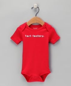 Another great find on #zulily! Silly Souls Red 'Fart Factory' Bodysuit - Infant by Silly Souls #zulilyfinds