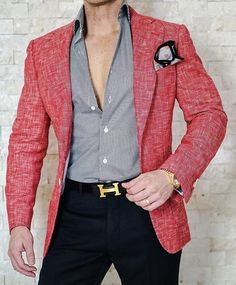 S by Sebastian Cardinale Lino Tweed Jacket Blazer Outfits Men, Casual Outfits, Fashion Outfits, Mens Fashion Suits, Mens Suits, Stylish Men, Men Casual, Moda Formal, Herren Outfit
