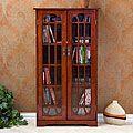 Upton Home Cherry Window Pane Media Cabinet   Overstock.com Shopping - The Best Deals on Media/Bookshelves
