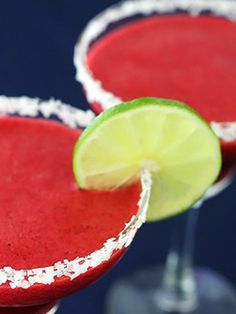 """<strong>Get the <a href=""""http://www.gimmesomeoven.com/blackberry-lime-margaritas/"""" target=""""_blank"""">Blackberry Lime Margaritas recipe</a> from Gimme Some Oven</strong>"""