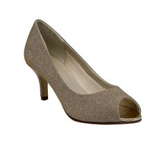 Iona Gold Metallic Peep Toe Shoe