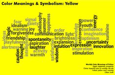 Color Meanings & Symbolism: Yellow