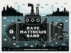 Dave Matthews Band Posters - 9-20-09 - Suquehanna Bank Center - Camden, NJ