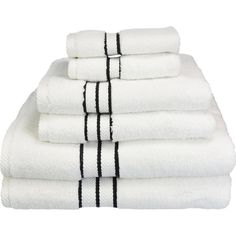 Beautifully crafted of Egyptian cotton, this indulgent towel set transforms your bathroom into a plush, spa-worthy retreat.Product: