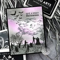 CM478 Graveyard HeroScape - Hero Arts Halloween Cards, Spooky Halloween, Hero Arts Cards, Best Zombie, Fall Cards, Happy Fall, Clear Stamps, Card Making, Ink